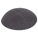 Charcoal Grey Suede Kippah